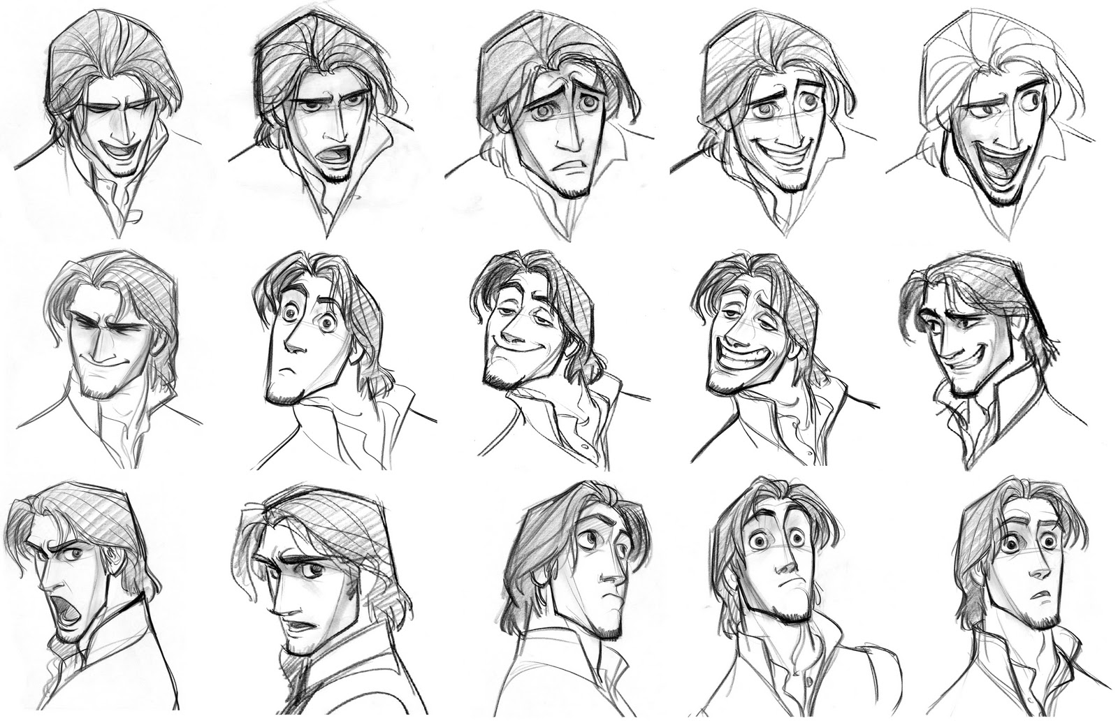 Facial Expressions 2 By Glen Keane